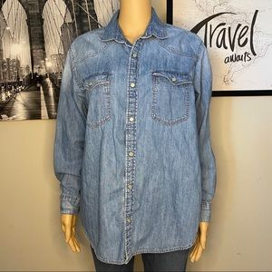 H&M chambray long sleeve button down